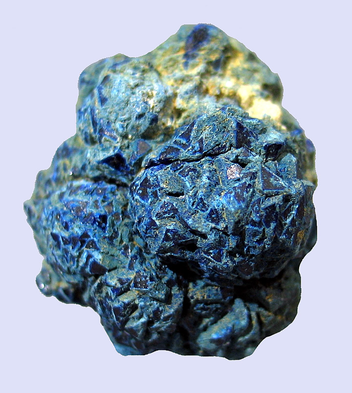 Complete Azurite Geode, Morenci Mine, Morenci, Copper Mountain District, Shannon Mts, Greenlee Co., Arizona