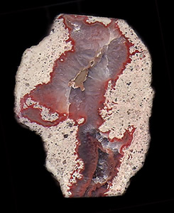 Agate and Quartz in Rhyolite, Hartkoppe Mt., Sailauf, Hösbach, Spessart Mts, Franconia, Bavaria, Germany