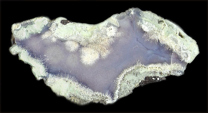 Agate with Sagenite, Sheep's Bridge, Verde River, Cave Creek, Verde Mts, Maricopa Co., Arizona