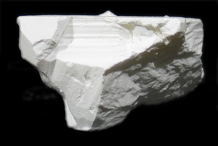 Tincalconite (TL) pseudomorph of Borax, Baker mine/U.S. Borax Mine, Kramer Borate deposit, Boron, Kramer District, Kern Co., California collected by Seibel & Minette