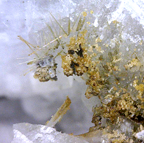 Charmarite (TL), Ancylite-(Ce), Pyrochlore & Siderite, Mont Saint-Hilaire, Québec, Canada ex Ron Waddell